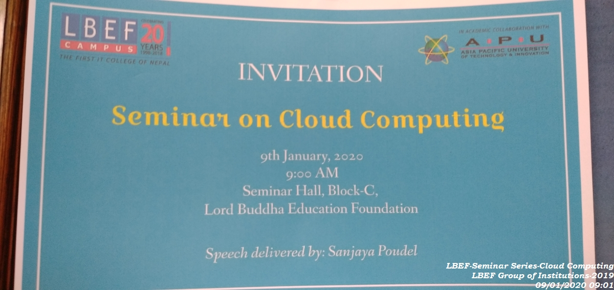 LBEF Seminar Series – Cloud Computing